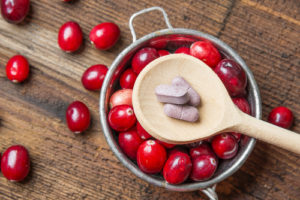 Ask your vet about giving your dog cranberry pills to help with urinary tract health.