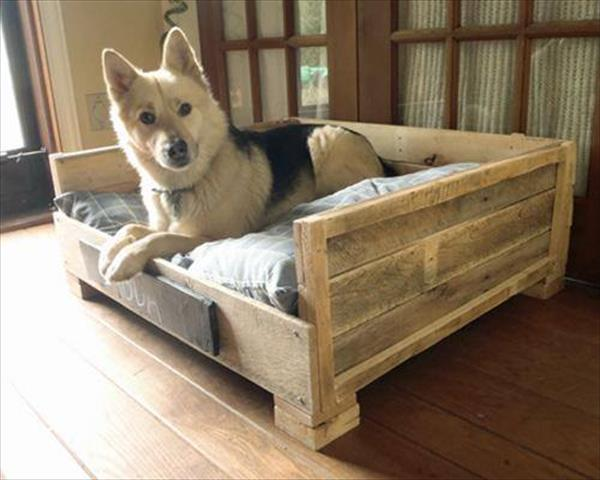 Diy Pallet Dog Bed 2