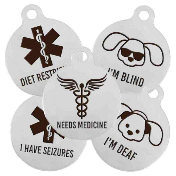 dog medical alert tags