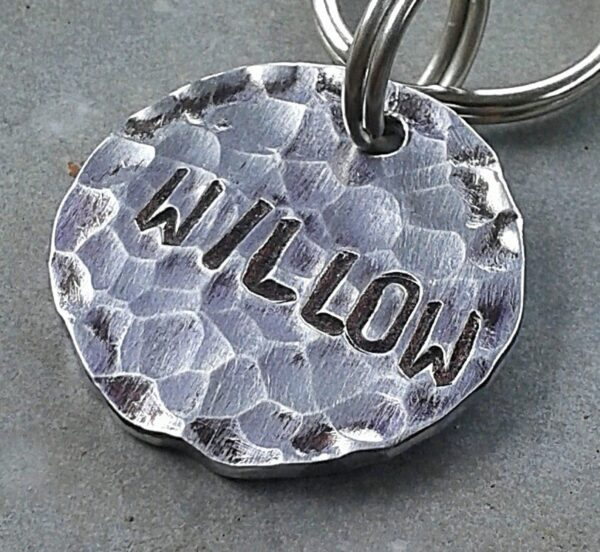 Dog tags in metal