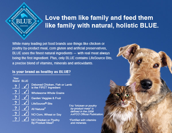Another Blue Buffalo ad, maintaining they use NO type of poultry meal or by-product meal