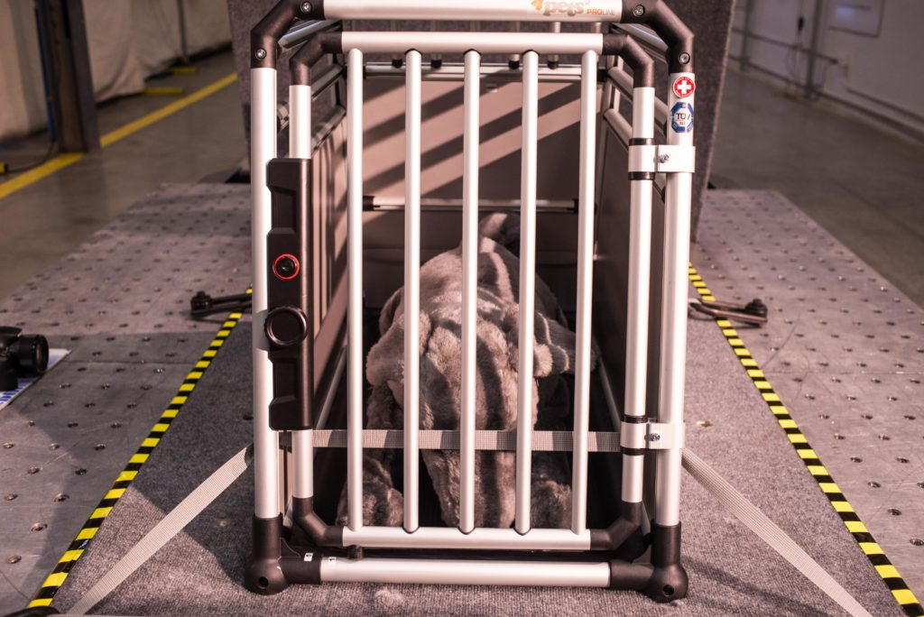 Some crates that advertising crash tested failed the CPS tests. Including the 4Pets Proline, which demands a hefty price of around $800 for their intermediate size. Image source: CPS-Subaru