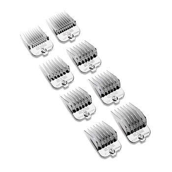 8 piece chrome plated magnetic comb set
