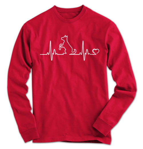Dog Heartbeat Long Sleeve
