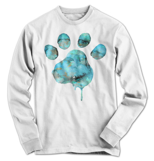 Watercolor Paw Long Sleeve