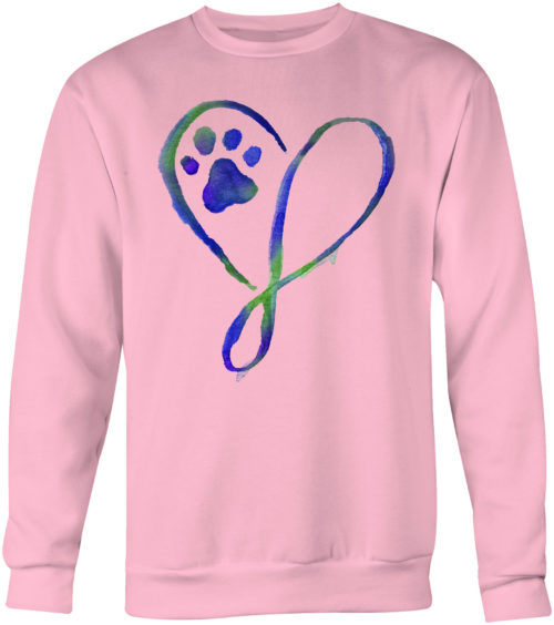 Elegant Heart Crew Neck Sweatshirt