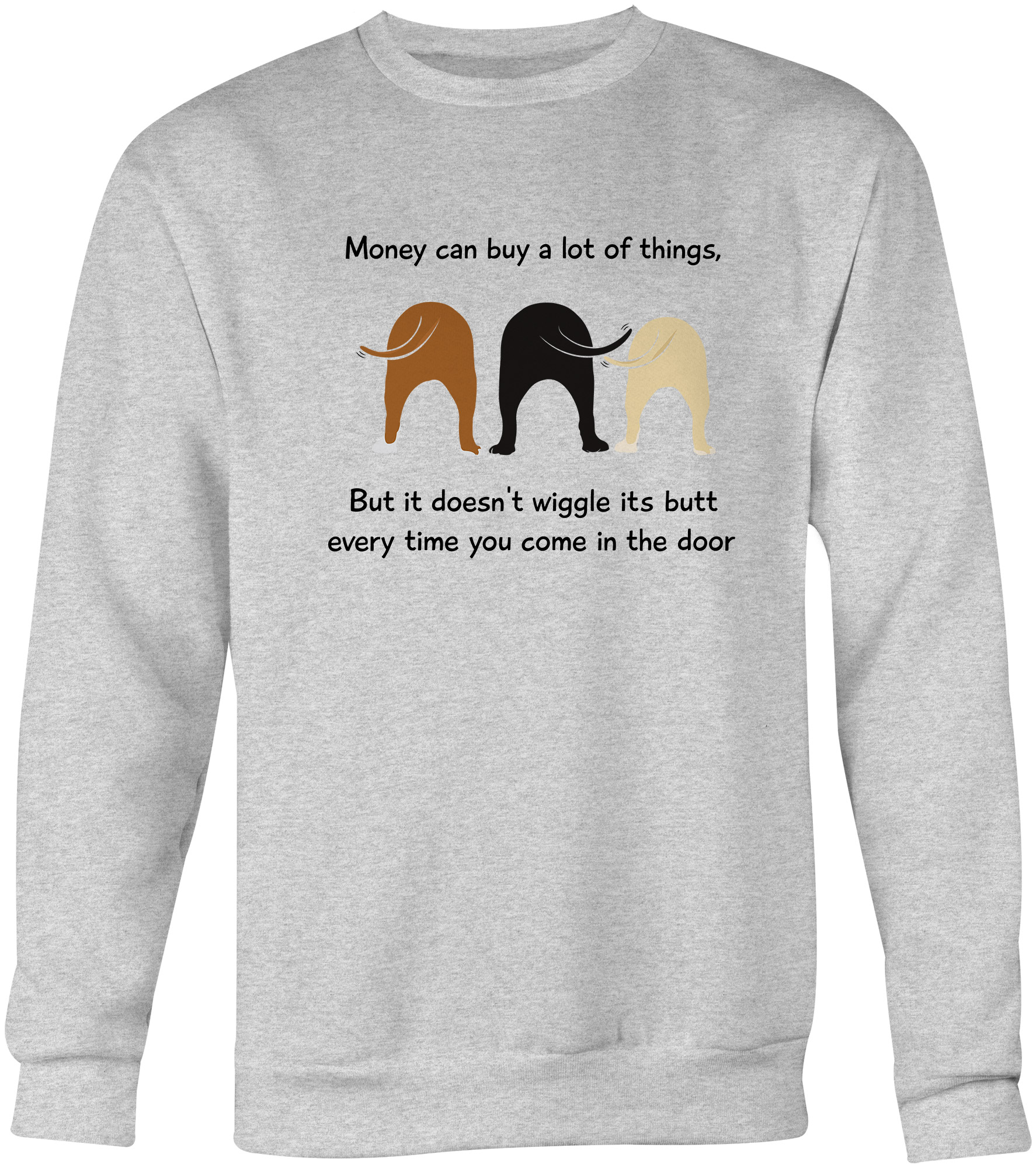 Wiggle Butt Crew Neck Sweatshirt – iHeartDogs.com