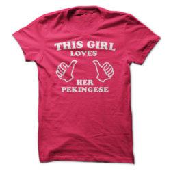 This Girl Loves Her Pekingese