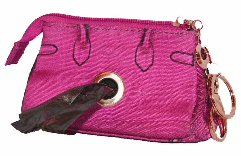 v1a pink PICK-UP POOP BAG POUCH- back