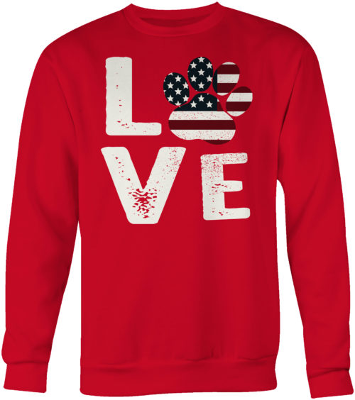Love Paw USA Crew Neck Sweatshirt