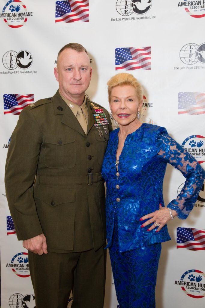 Mrs. Pope with Col. Scott Campbell, our featured speaker at the event. Image source: Kim Zuccaro/CAPEHART