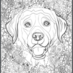 Lab Adult Coloring Book Page