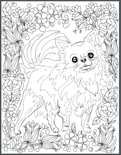 Page Coloring Book For Adults Who Love Dogs Secondary Image