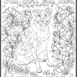 Mixed Breed All Dogs Matter Adult Coloring Book Page