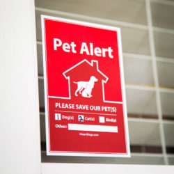 2-Pack Pet Alert Stickers: Recommended for Every Door & Window of Your Home