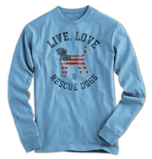 Live Love Rescue Dogs Long Sleeve