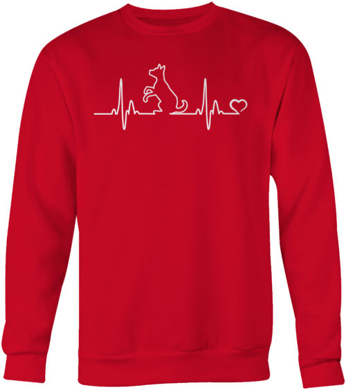 Dog Heartbeat Crew Neck Sweatshirt