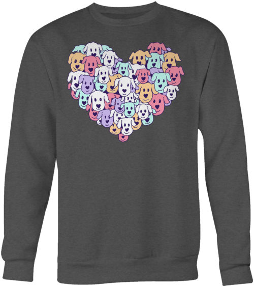 Heart of Dogs Crew Neck Sweatshirt