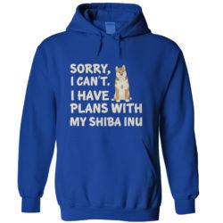 I Have Plans Shiba Inu Hoodie