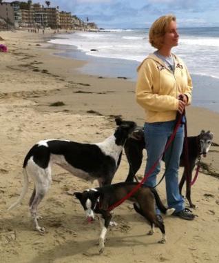 Tasha and her hounds. Image source: Tasha Miner