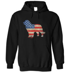 Vintage Bernese Mountain Dog USA Hoodie