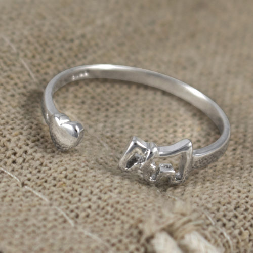 My Dog Is Close To My Heart Adjustable Ring