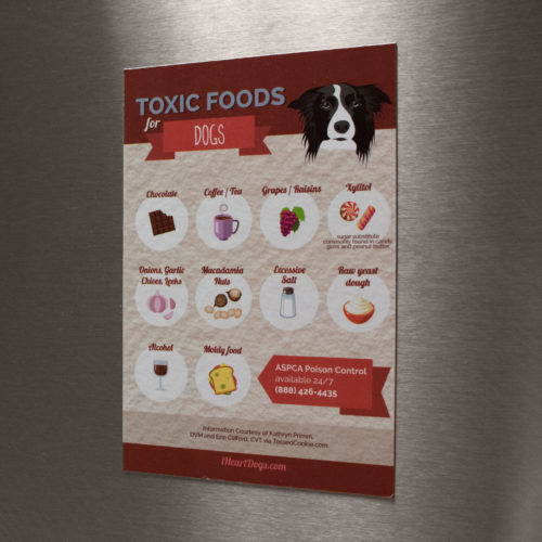 Toxic Dog Foods Refrigerator Magnet