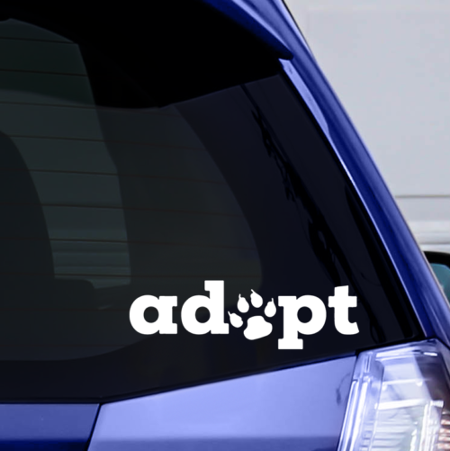 Adopt Paw Vinyl Window Sticker