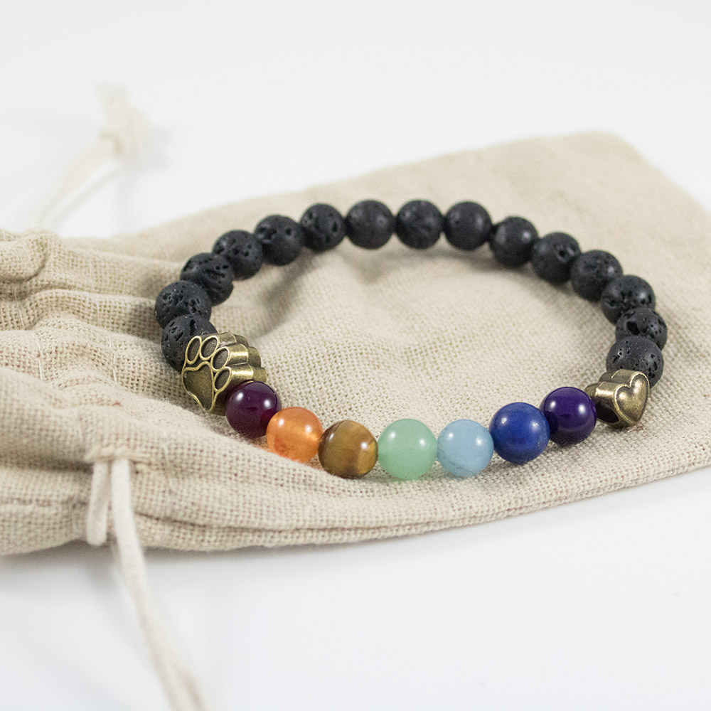 Lava Bead Rainbow Bridge Bracelet Feeds 7 Shelter Dogs In Loving Memory Of Your Dog