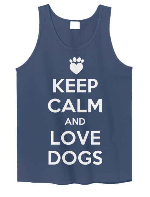 Keep Calm and Love Dogs Tank