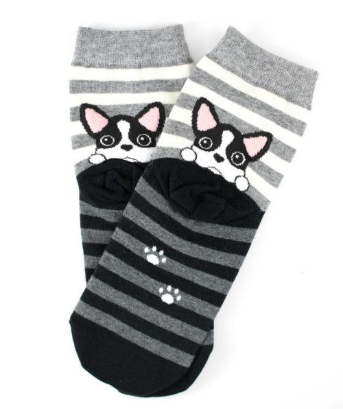 FREE Grey Striped Puppy Socks
