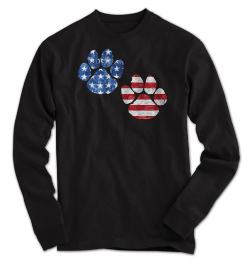 Flag Paws USA Long Sleeve