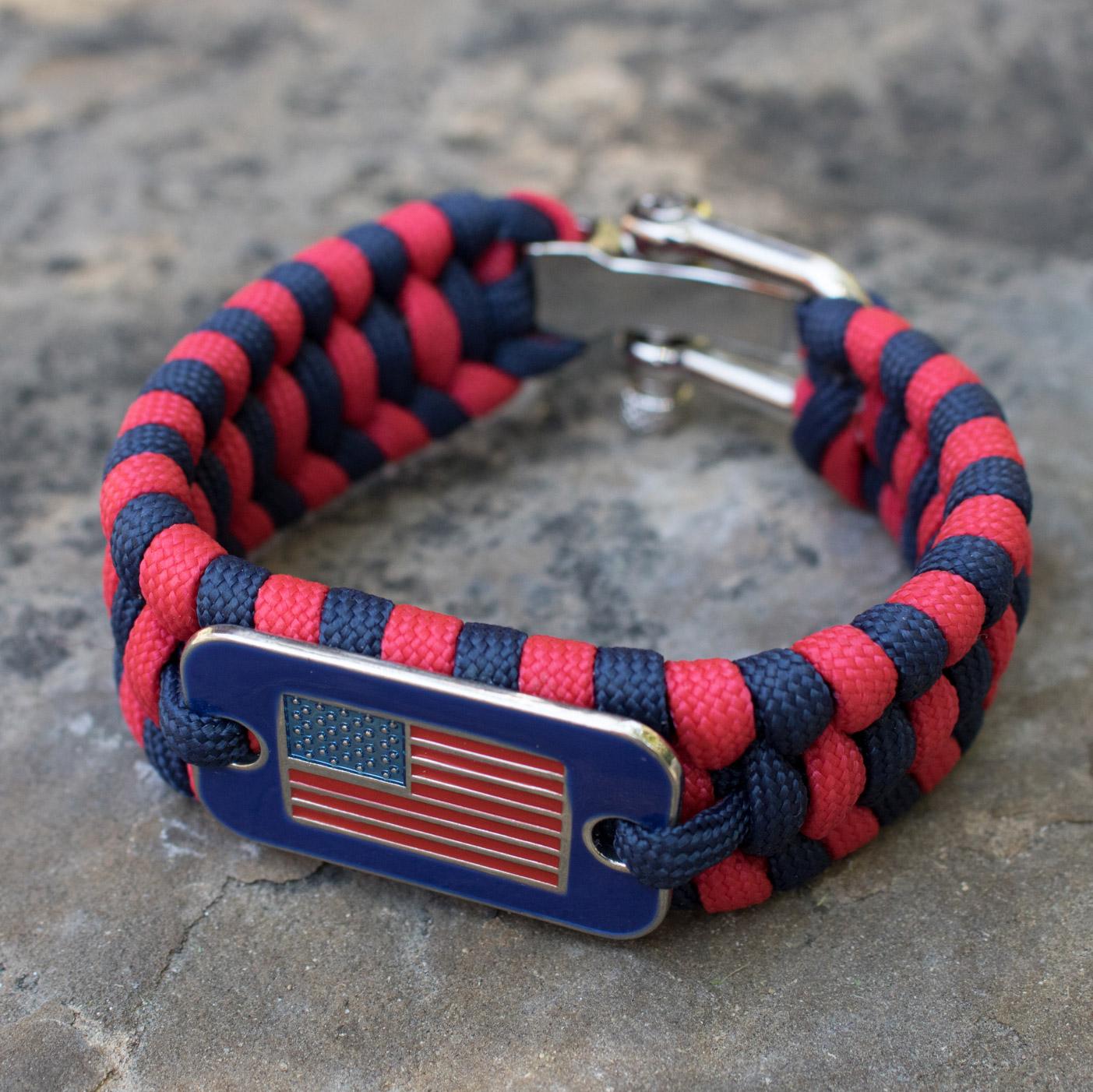 Paracord Survival Flag Bracelet Helps Pair Veterans With A Service