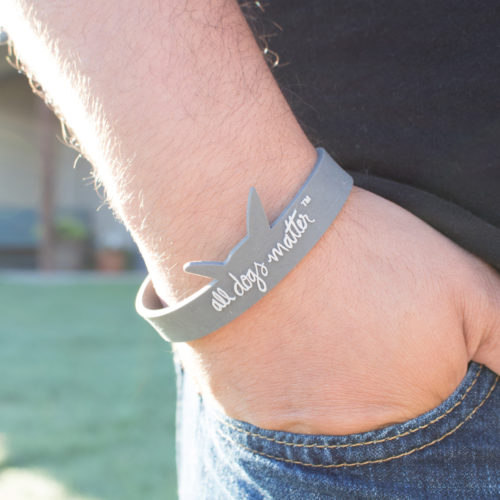 All Dogs Matter Logo Silicone Wristband