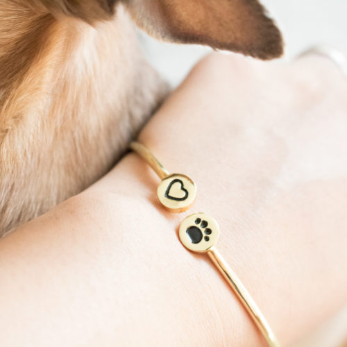 My Dog is Close To My Heart Adjustable Bangle Bracelet