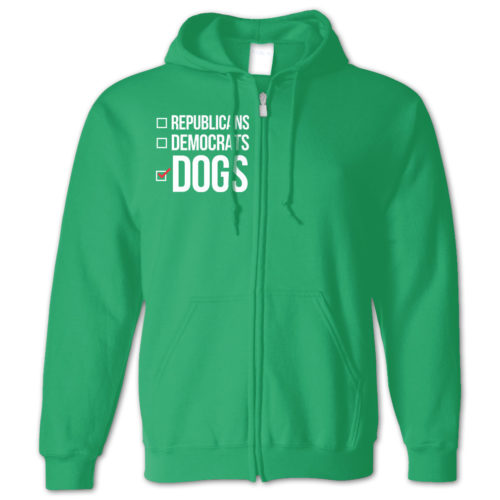 Party Dogs Zip Hoodie