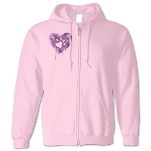 Watercolor Heart Zip Hoodie