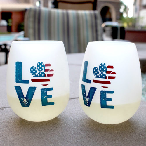 Shatterproof Love Paw USA Pack 'n Sip Wine Cups (Set of 2)
