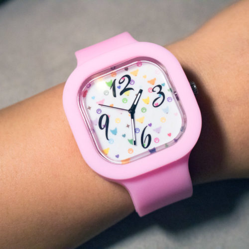 Silicone Watch Color Pattern Design with 3 Color Bands