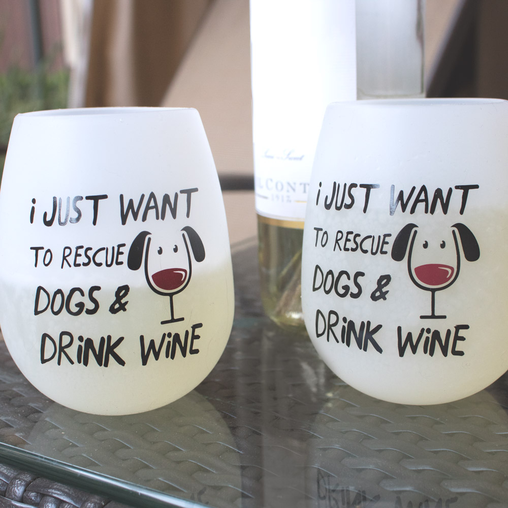 Image of Shatterproof Rescue Dogs and Drink Wine Silicone Wine Cups (Set of 2)