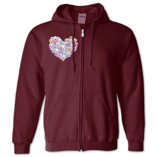 Heart of Dogs Zip Hoodie
