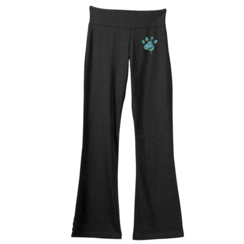 Blue Water Color Paw Yoga Pants