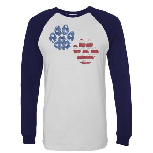 Flag Paws USA Standard Baseball Tee