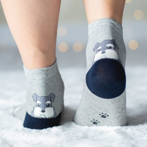Special Offer! Grey Argyle Puppy Socks