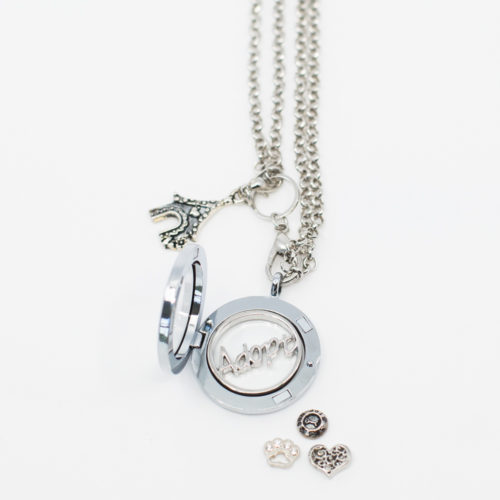 Furever™ Adopt Locket Set: Gives 5 Meals To Shelter Dogs in Honor of Your Adopted Pet