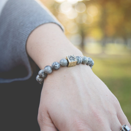 Grey Jade Stone Bracelet: Each Purchase Helps Rebuild an Animal Shelter