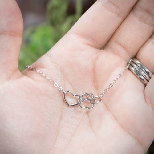 Forever Connected Heart Paw Necklace