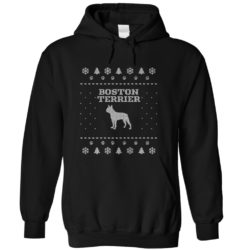 Christmas Boston Terrier Hoodie