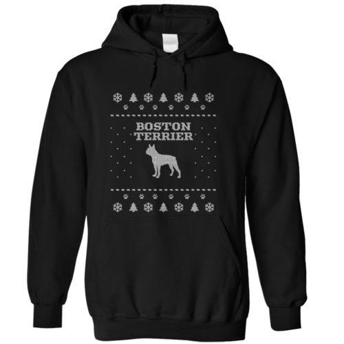 Christmas Boston Terrier Hoodie
