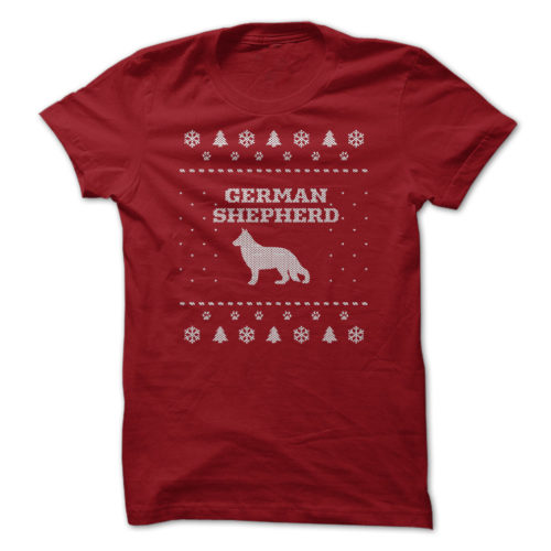 Christmas German Shepherd